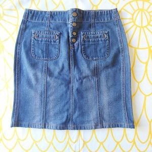 Gap Jeans Denim Buttoned Skirt